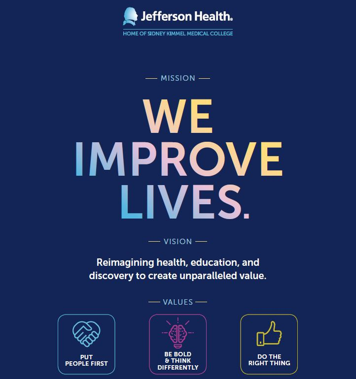 Jefferson Health Mission Vision and Values